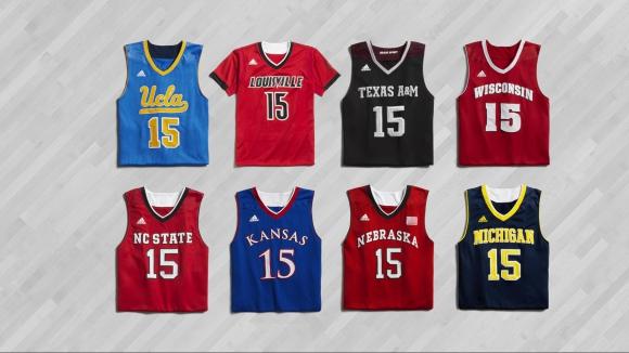 59aed4ae535 adidas представя новите екипи на колежанските си отбори по баскетбол ...