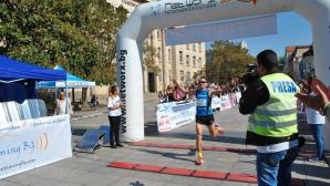 Осемдесетгодишен българин участва в 15-километровия пробег от Гюргево до Русе