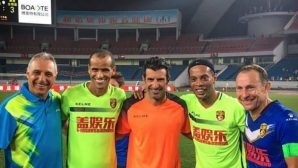 Стоичков обра овациите в Китай с Фиго и Роналдиньо, срещна се с Гришо (ВИДЕО)