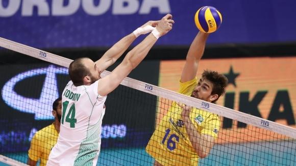 Националният отбор на България по волейбол грае срещу Бразилия в