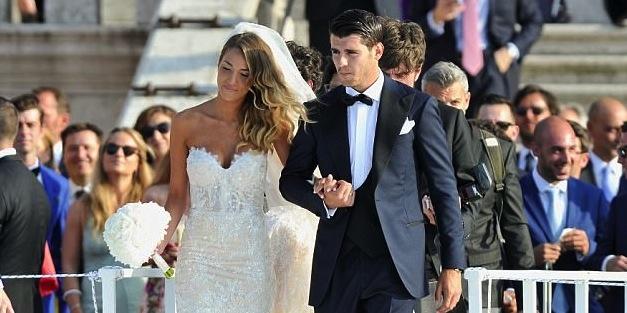 Нападателят на Реал Мадрид Алваро Мората се ожени за любимата