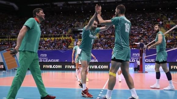 Волейболистите от националния отбор на България са много близко до