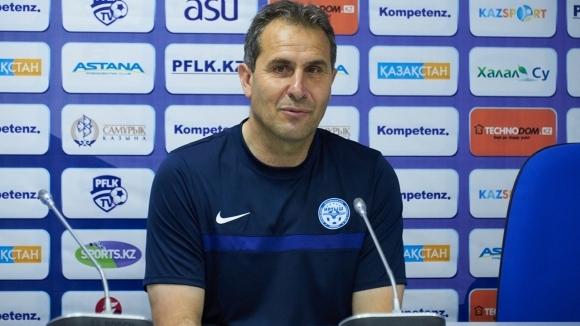 Старши треньорът на казахстанския Иртип (Павлодар) Димитър Димитров не скри