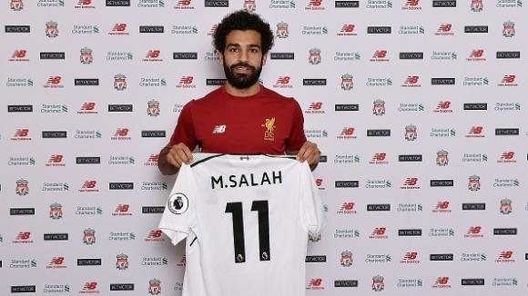 Мохамед Салах вече официално е играч на Ливърпул. Тази вечер