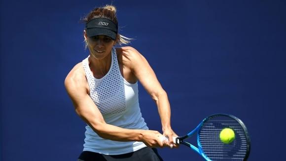 Българката Цветана Пиронкова води със 7:6(6), 2:1 и 40:30 срещу