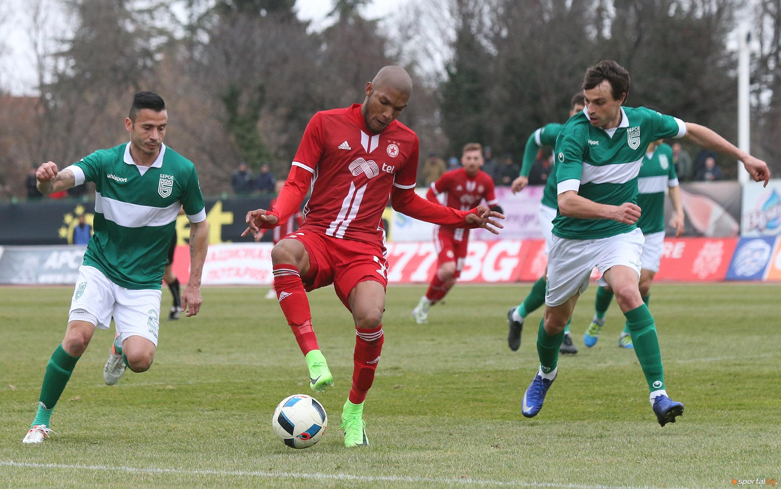 Снимка: 11-те на ЦСКА-София срещу Берое, Недялков липсва