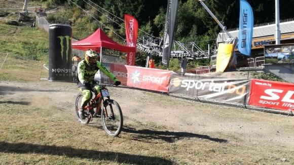 Младата надежда на планинското колоездене в България Йордан Анчев спечели