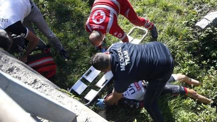 Белгийският състезател на AG2R-La Mondiale Ян Беклантс получи множество травми,