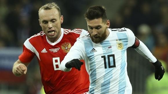 Отборите на Русия и Аржентина играят при 0:0 в контролна