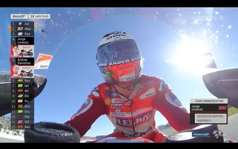 Хорхе Лоренсо обясни след края на състезанието във Валенсия отказа