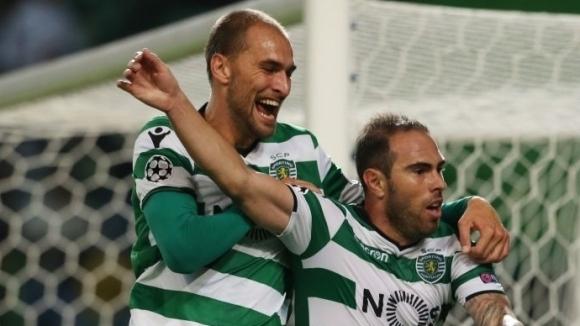 Отборът на Спортинг победи гръцкия Олимпиакос с 3:1 в среща