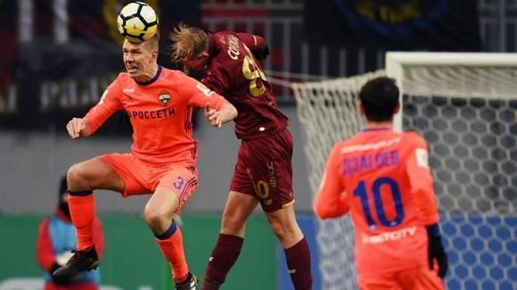 С гол на Понтус Вернблум в 45-ата минута ЦСКА (Москва)