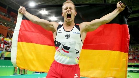Олимпийският шампион на висилка от Рио 2016 Фабиан Хамбюхен (Германия)