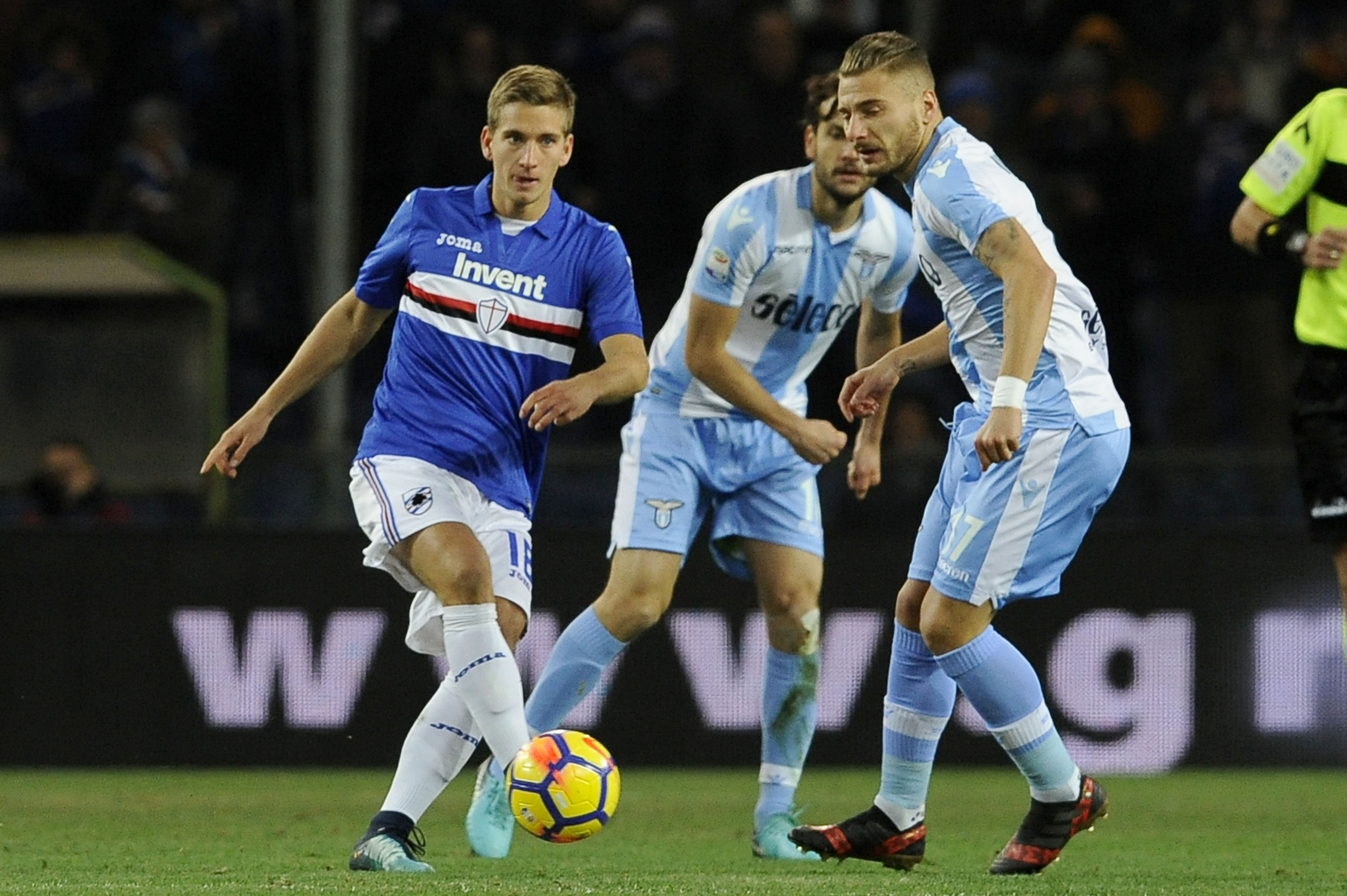 Лацио постигна драматичен успех с 2:1 на терена на Сампдория