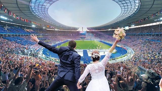 Да се омъжиш на стадион пред близо 60 000 души?