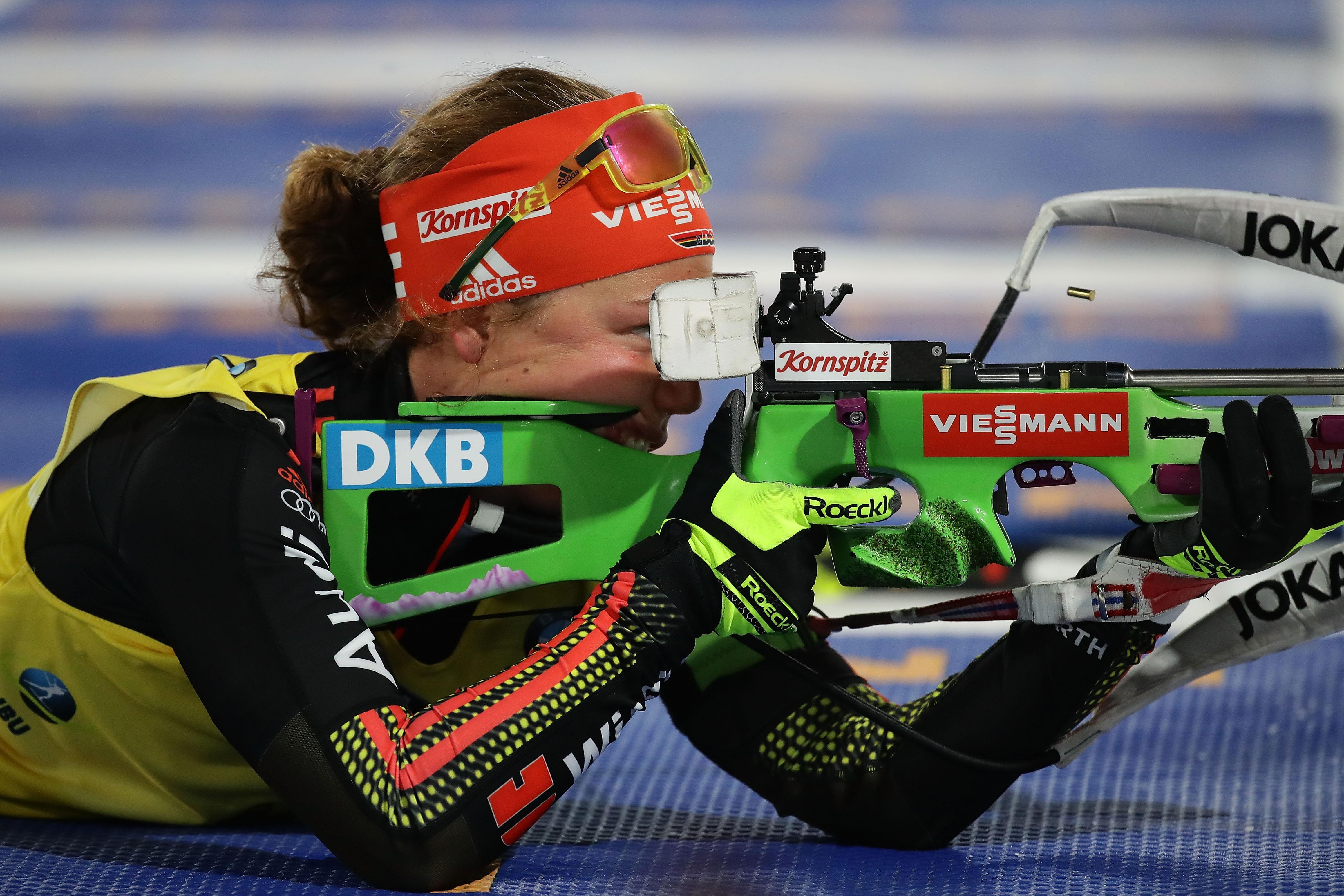 Носителката на Световната купа по биатлон Лаура Далмайер (Германия) ще