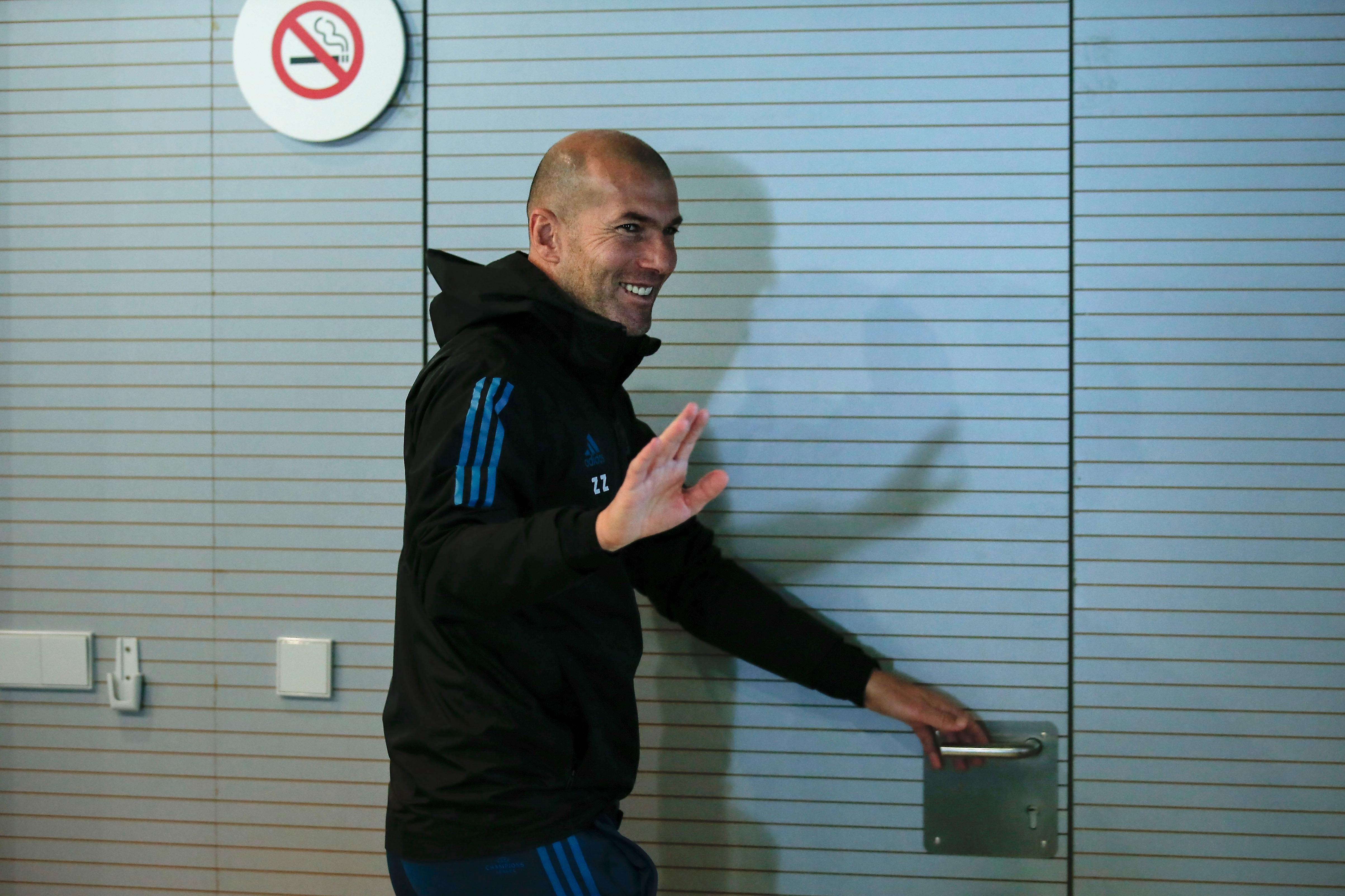Старши треньорът на Реал Мадрид Зинедин Зидан не се притеснява