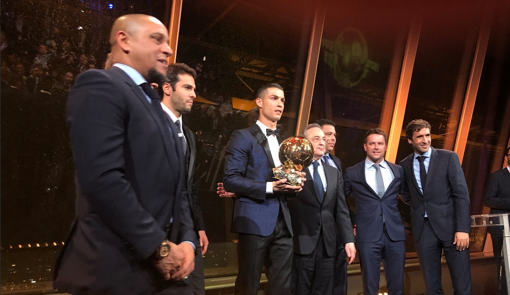 Най-важният футболист в света днес Кристиано Роналдо прие поздравленията за