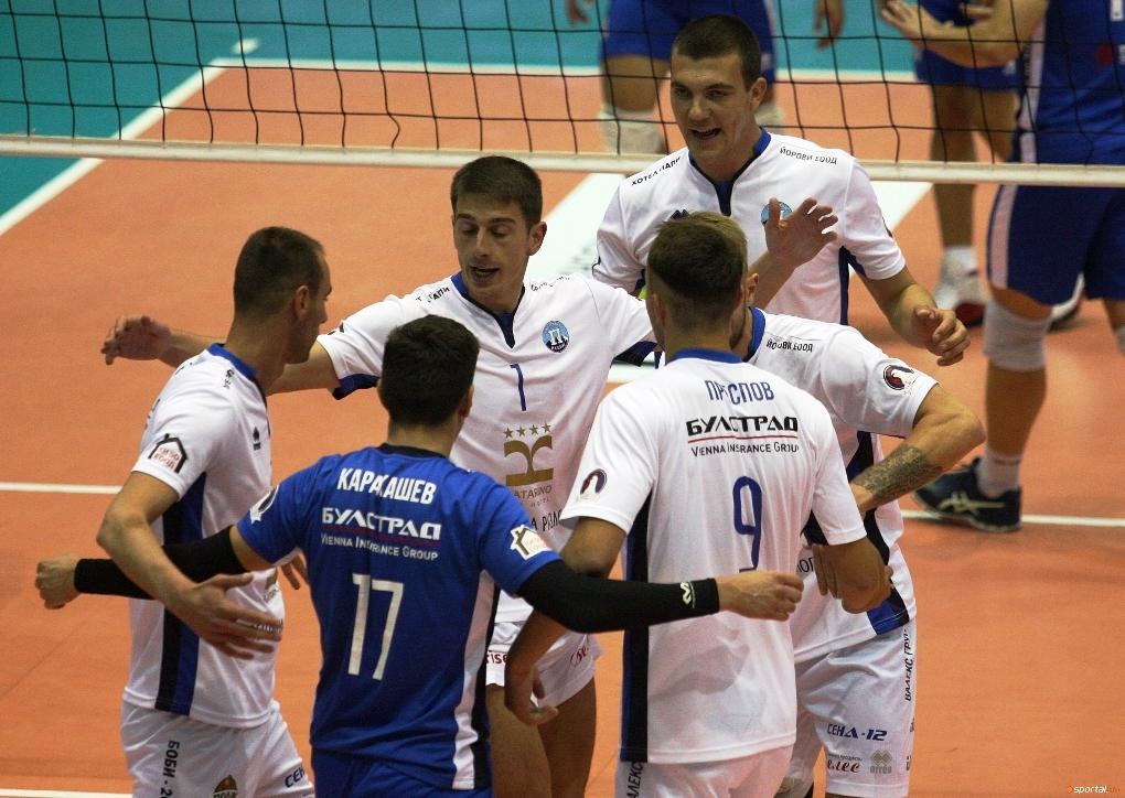 Волейболистите на Пирин (Разлог) останаха начело в Суперлигата на България,