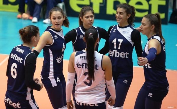 Волейболистките на Левски започнаха със загуба участието си в третия