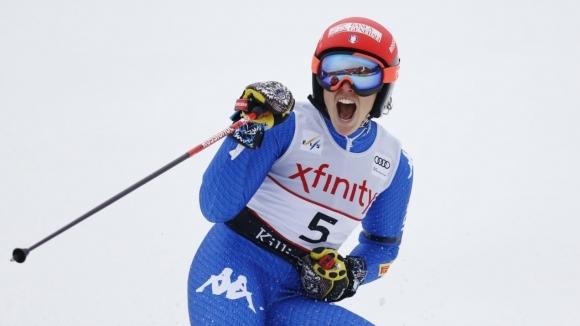 Италианката Фредерика Бриньоне спечели драматично гигантския слалом от Световната купа