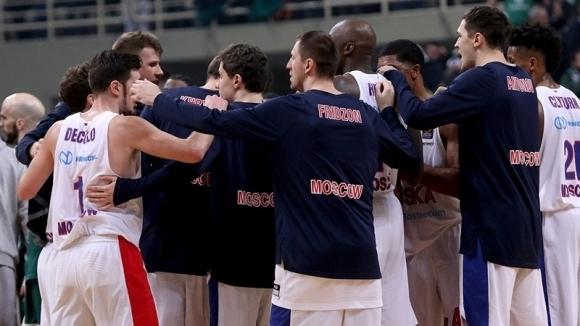 ЦСКА Москва запази лидерската си позиция в Евролигата по баскетбол,