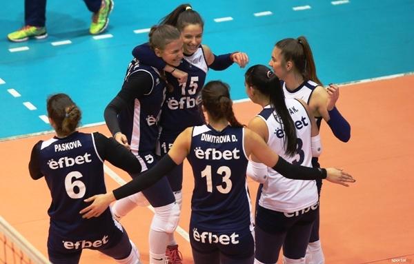 Волейболистките на Левски победиха като домакини Славия с 3:0 (25:18,