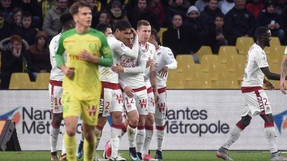 Тимът на Бордо поднесе изненада, побеждавайки Нант с 1:0 като
