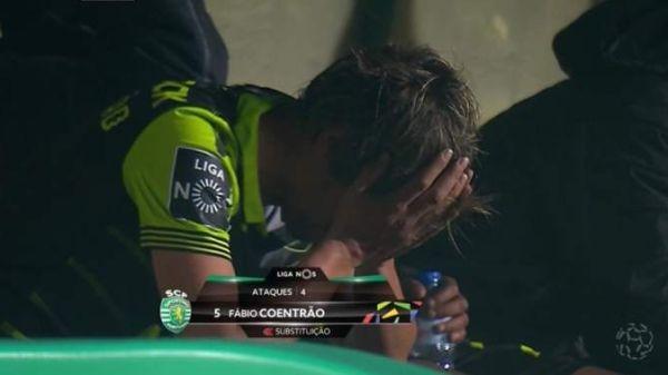 Защитникът на Спортинг (Лисабон) Фабио Коентрао не успя да сдържи