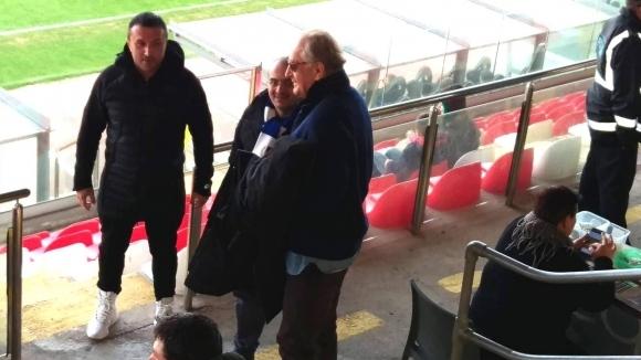 Собственикът на Левски Спас Русев пристигна на стадиона на малтийския