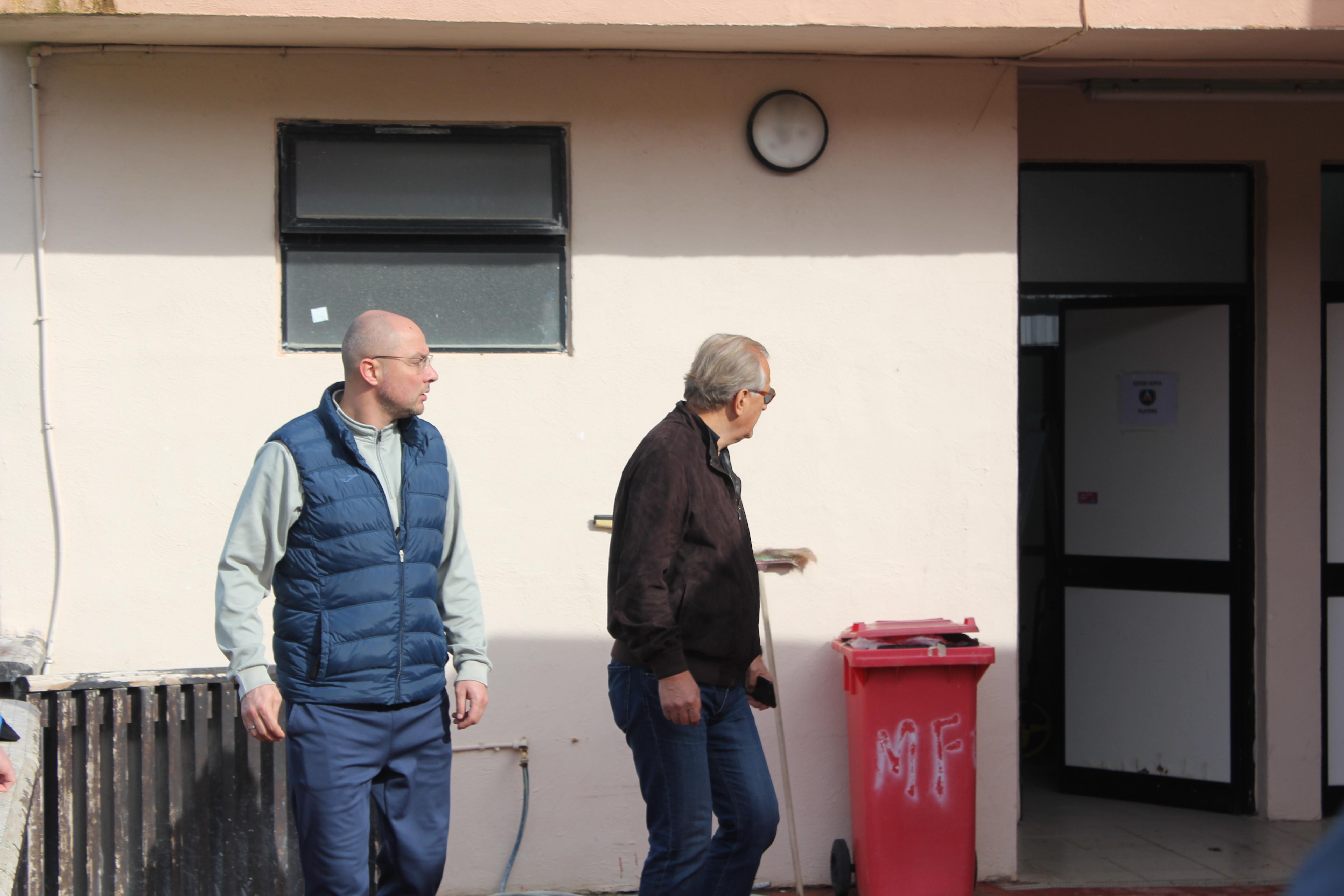 Собственикът на Левски Спас Русев и главният мениджър на тима