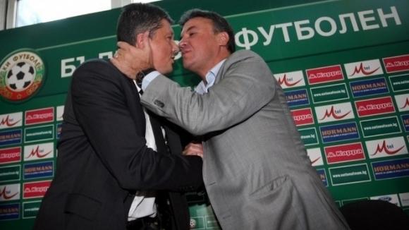 Настоящият президент на БФС Борислав Михайлов се ползва с подкрепата
