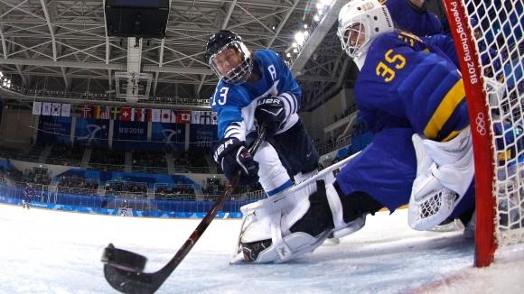 Финландия е последният полуфиналист в олимпийския турнир по хокей на