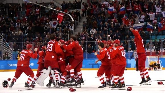 Отборът Олимпийски спортисти от Русия спечели финала в мъжкия хокеен