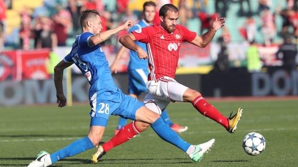 Първите три отбора в класирането на Първа лига - Лудогорец,