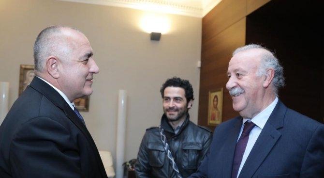 Министър-председателят Бойко Борисов се е срещнал с големия испански футболист