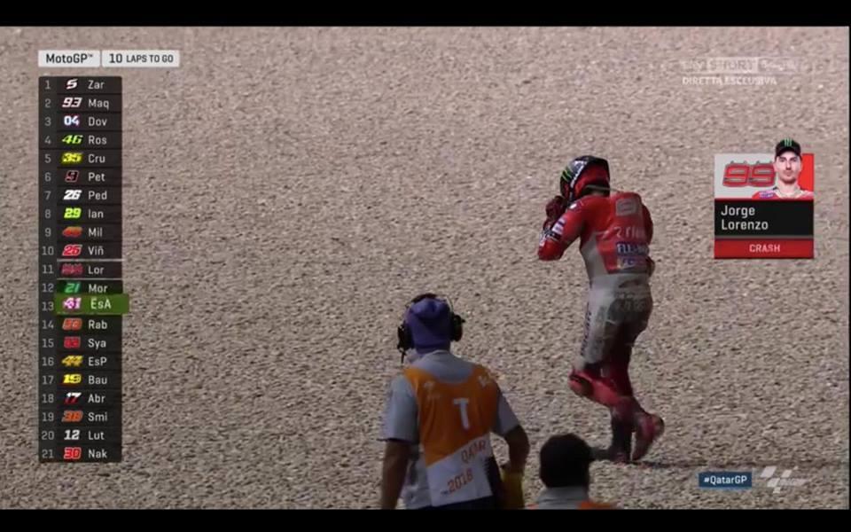 Петкратният световен шампион в MotoGP Хорхе Лоренсо претърпява доста възходи