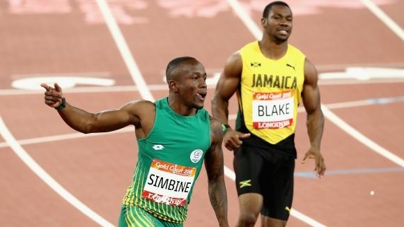Южноафриканецът Акани Симбине спечели титлата на 100 метра при мъжете