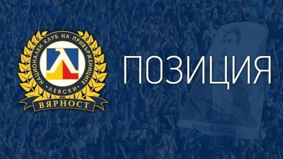 НКП на Левски излезе с позиция относно вчерашния инцидент на