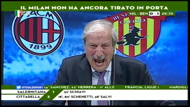 Тициано Крудели е един от най-страстните футболни коментатори в италианските