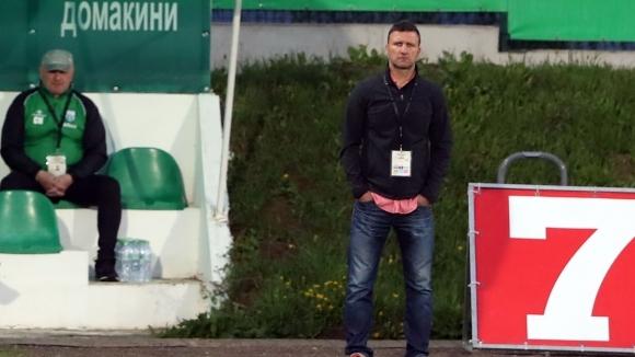 Наставникът на Витоша (Бистрица) - Костадин Ангелов, заяви след равенството