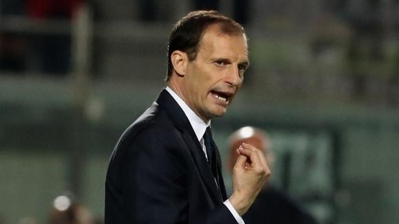 Треньорът на Ювентус Масимилиано Алегри нямаше как да е щастлив