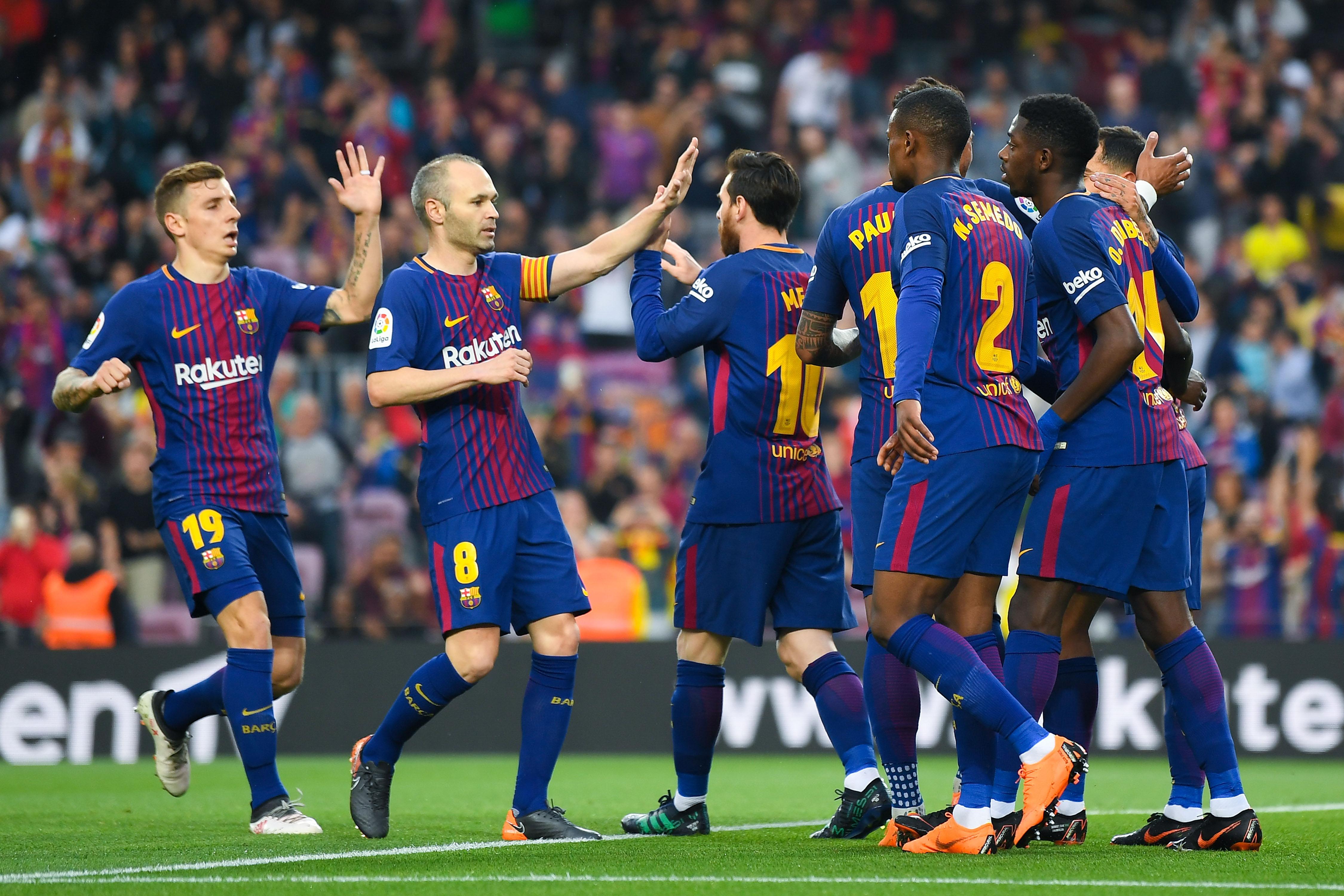 След силно първо полувреме тимът на Барселона се наложи с