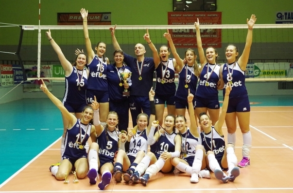 Волейболистките на Левски спечелиха шампионската титла на България за девойки