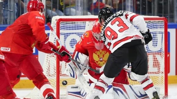 Вицешампионът Канада победи с 5:4 след продължение Русия и се