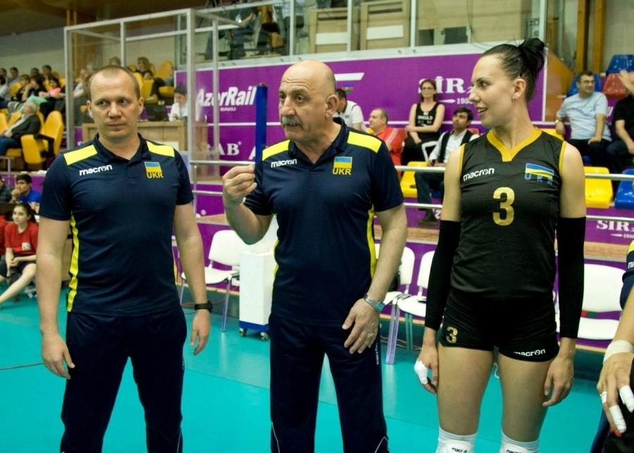 Селекционерът на Украйна Гари Йегиазаров и капитанът на тима Надя