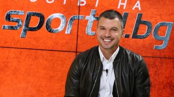 Бившият футболист на Левски Валери Божинов гостува в SportalTV, където