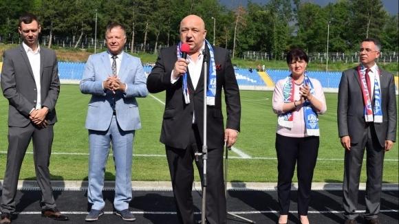 Министърът на младежта и спорта Красен Кралев откри обновения стадион