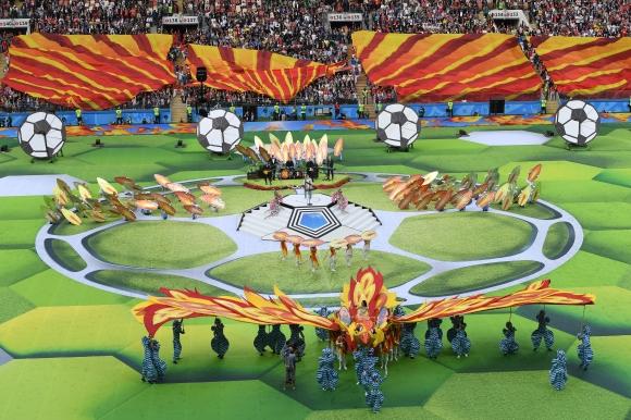 Със стилна церемония бе открито на Световното първенство по футбол