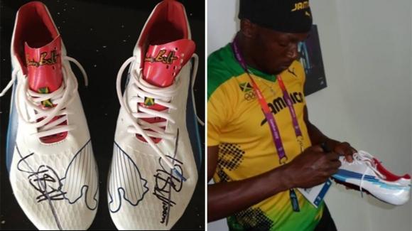 Спортни обувки с подписа на осемкратния олимпийски шампион по лека